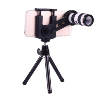 12X Magnification Lens Mobile Phone 3 In 1 Telescope + Tripod Mount + Mobile Phone Clip For IPhone 7 / IPhone 6 Plus / IPhone 6 / IPhone 5 - intl