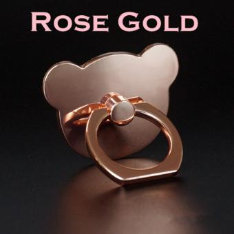 Harga Iring Phone Holder Stand Teddy Bear Design with Hook Twin Pack (2 Pieces 5% Discount) (Rose Gold)