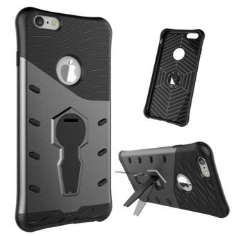 Harga Heavy Duty Shockproof Dual Layer Hybrid Armor Defender Full Body Protective Cover with 360 Degree Rotating Kickstand Case for Apple iPhone 6 Plus / 6s Plus - intl