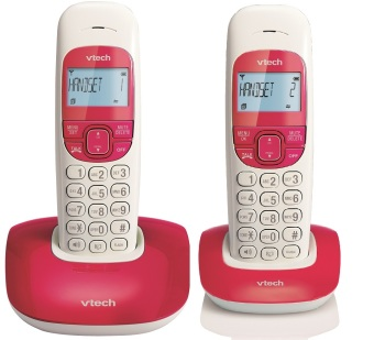 Harga VTECH VT1301-2 RED Digital Cordless Phone (Twin Unit)