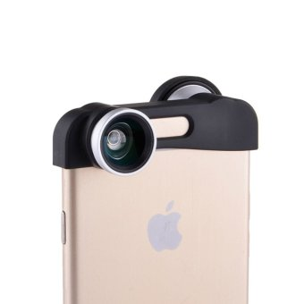 3 in 1 Fish Eye Wide Angle Macro Lens Camera Phone Lens for iPhone 6 Plus (Silver)