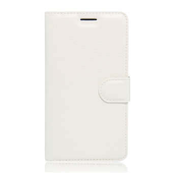Harga Lychee Leather Wallet Case for HTC 10 (White) - intl