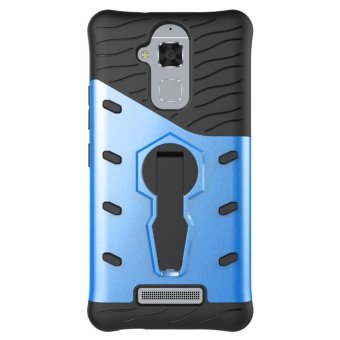 Harga Heavy Duty Shockproof Dual Layer Hybrid Armor Defender Full Body Protective Cover with 360 Degree Rotating Kickstand Case for ASUS ZenFone 3 Max ZC520TL - intl