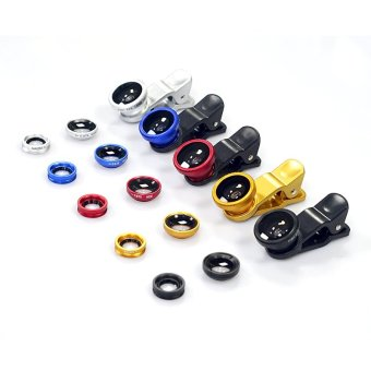 Universal Clip 3 in 1 Fish Eye Wide Angle Macro Fisheye Iphone Camera Mobile Phone Lens For IPhone7 6 5 5S Samsung HTC GN_Gold