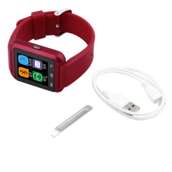 Harga U8 Bluetooth Smart Wrist Watch Phone Mate For Android Samsung HTC red