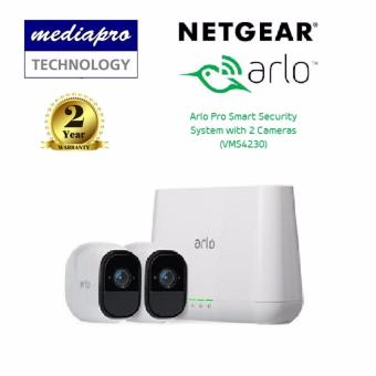 Harga Netgear VMS4230 Arlo Pro Smart Security System with 2 Wire-Free Cameras