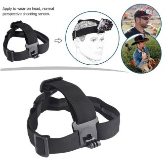 Harga Action Camera Elastic Harness Head Strap Mount for Gopro Hero 5 4 3 Session Xiaomi Yi 4K Eken H9 SJCAM SJ4000 Accessories - intl