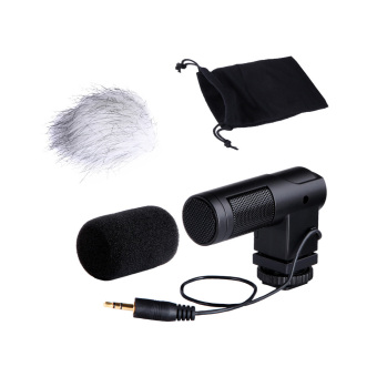 Harga BOYA BY-V01 Stereo X/Y Mini Condenser Microphone / Mic for Canon Nikon Pentax Sony DSLR Camcorder