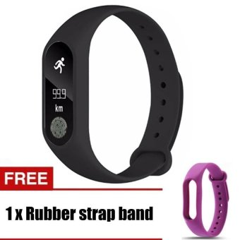 Harga M2 Wristband Heart Rate Monitor Smart Watch Sports Reminder Smart Bracelet For IOS And Android - intl