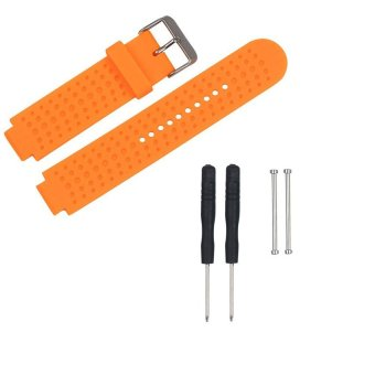 Harga AWINNER Replacement Sport Colourful Band for Garmin Forerunner 230/235/630/220/620/735 GPS Golf Watch-(Orange)