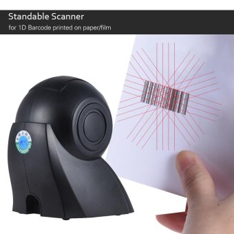 Harga Omni-directional 20 Lines 1D USB Orbit Barcode Scanner Reader Auto Scanning 1800t/s Speed 30� Adjustable Head (Black) - intl