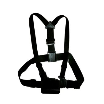 Black Adjustable Chest Harness Belt Chest Strap Mount for GoPro Hero 5 4 3 SJCAM SJ4000 Yi 4K Action Camera Accessories - intl Price in Singapore