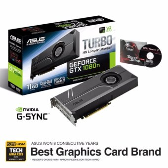 Harga ASUS Turbo GeForce GTX 1080 Ti 11GB GDDR5X for best VR, 4K gaming and system integration