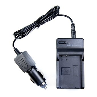Harga Travel Charger Charger for Nikon EN-EL14 MH-24 D5100 D3100 with Car Charger (EXPORT)