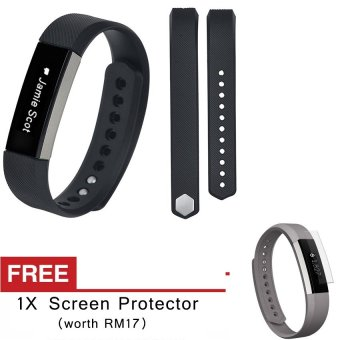 Harga Awinner OEM-Large Size Silicone Watch band Wrist Strap For Fitbit Alta- (black) Free Screen Protector (5-PCS)