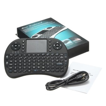 Harga Mini USB Wireless Keyboard Touchpad Air Mouse Fly Mouse Remote Control for Android Windows TV Box PC Pad Cellphone Black