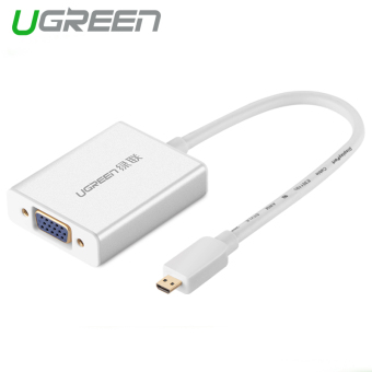 Harga UGREEN Micro HDMI to VGA Adapter with 3.5MM Audio, Mirco USB Port Aluminum Case