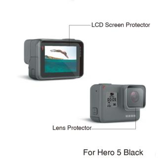 Harga Lens and Screen Protector Protection Film For Gopro Hero 5 Camera Go pro 5 HD accessories - intl