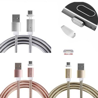 Metal Micro USB Magnetic Charger Adapter Data Charging Cable For Android Phone(Silver) - intl