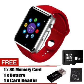 Harga A1 Smart Watch with Call Camera Bluetooth Wireless Connect For Android & iOS - intl