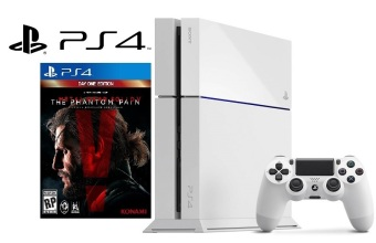 Harga Playstation 4 console (500GB) + Metal Gear Solid 5 Bundle (White Console)