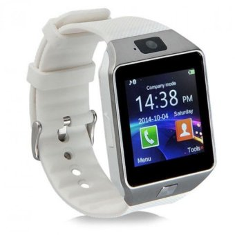 Harga BUYINCOINS DZ09 Bluetooth Smart Wrist Watch Phone Mate For Android & IOS iPhone Samsung LG (White) - intl