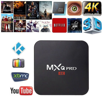 Harga niceEshop MXQ Pro Amlogic S905 Quard Core Tv Box Android 5.1 Smart TV Box 1080p HDMI 4k Streaming TV Box(UK Plug)