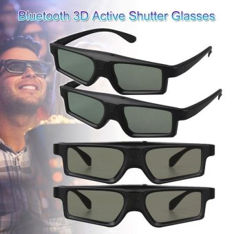 4x Bluetooth LCD 3D TV 120Hz Active Shutter Glasses USB For Sony Toshiba Samsung - intl