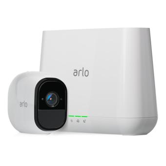 Harga Netgear Arlo Pro Security System with Siren – 1 Rechargeable Wire-Free HD Camera with Audio, Indoor/Outdoor, Night Vision (VMS4130)