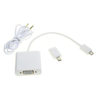 Micro USB MHL to VGA Video Audio Cable for Samsung Note HTC LG(Export)