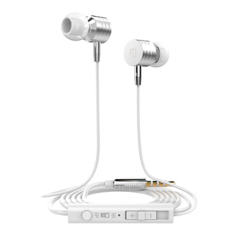 Harga Langsdom 3.5mm I-7 Metal Super Bass In-ear Earphones for iphone Sony Xiaomi Mp3 PC 3.5mm (White) - Intl