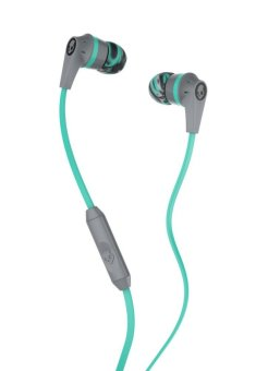 Harga Skullcandy Ink'd 2 In-Ear Earphones (Gray/Mint/Gray)