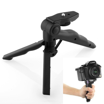 Harga 10CM 2 in 1 Handheld Grip Mini Tripod (Black)