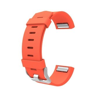Harga Awinner Band for Fitbit Charge 2, Soft Silicone Adjustable Replacement Sport Strap Band for Fitbit Charge2 Heart Rate + Fitness Wristband (Orange)