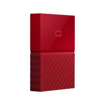 Harga WD My Passport Portable External Hard Drive (Red) 2TB