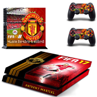 New Design Manchester United Team Vinyl Decal Skin Stickers for Sony PlayStation 4 PS4 Console and 2PCS Controllers(GYTM0607). - intl