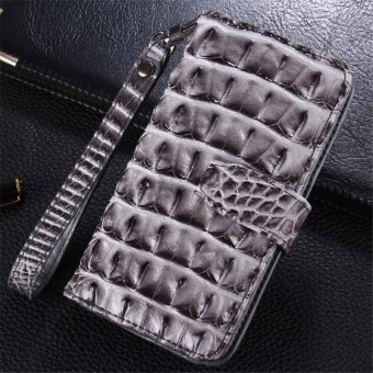 Harga Luxury Wallet Flip Pu leather Case Cover For iPhone 6/6s Plus 5.5 inch Case 3D Crocodile Cell Phone Bag With Card Holder(Grey)