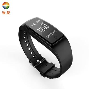 Harga Fashion innovative sports pedometer waterproof sleep monitoring heart rate intelligence bracelet smart watches - black - intl