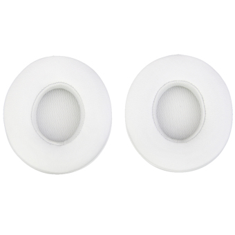 Harga BolehDeals 1 Pair Protein Leather Replacement Ear Pads for Monster Beats SOLO 2.0 White