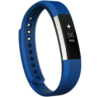 Beautymaker Premium Sport Replacement Silicone Watch Band Bracelet Strap For Fitbit Alta HR Blue - intl
