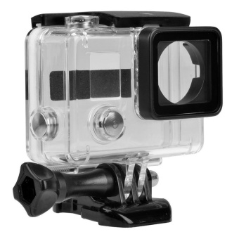 Harga GoPro Accessories Go Pro 30M Replacement Waterproof ProtectiveSkeleton Housing Case with Bracket for GoPro Hero 3+/4 - intl