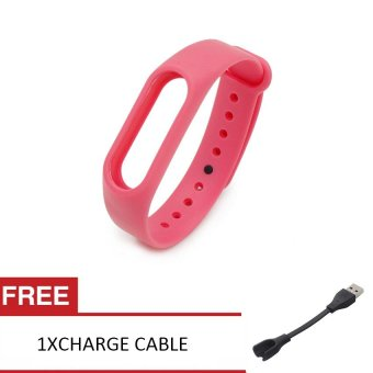 Harga AWINNER Wristband Replacement For Xiaomi Mi Band 2(Pink)Free 1 charge cable