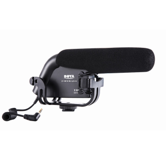 Harga Boya BY-VM190 Professional Directional Video Condenser Shotgun Microphone for Canon Sony Pentax DSLR Camera Camcorder DV