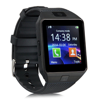 Harga Smart Watches DZ09 Bluetooth Smart Wristband Watch for Android and iOS (Black)