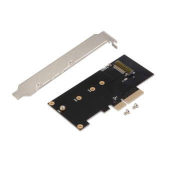 M.2 PCI-E NVMe Adapter Card to PCI Express 3.0 Full Speed x4 SSD M Key SDD - intl
