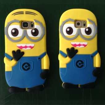 Harga For Samsung Galaxy S6 Edge Plus 3D Cute Cartoon Despicable Me Minions Soft Silicone Cover Case - intl