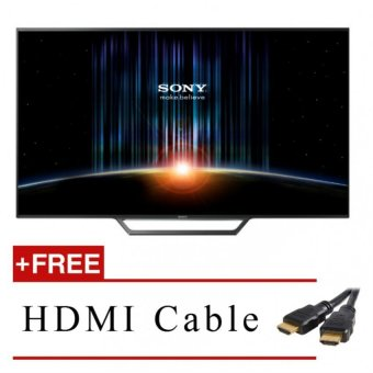 "Harga Sony Singapore* Sony 32"" Smart LED TV Black KDL-32W600D FREE HDMI Cable Safety Mark Approved"