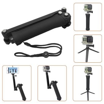 Harga Waterproof For Gopro Tripod 3 Way Monopod For Gopro Hero 5 3+ 4 Session Xiaomi yi SJCAM SJ4000 Camera Grip Go Pro 5 Accessories - intl