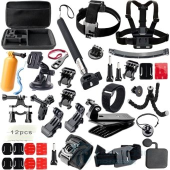 Harga Gopro accessories Set gopro case tripod 360 rotation wristmounthelmet arm Go pro hero3 Hero4 Gopro accessories kit GS42 - intl