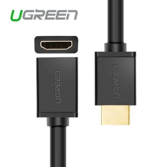 Harga Ugreen 2M HDMI extension cable male to female 1m 2m HDMI to HDMI 4K 3D 1.4v cable for HD TV LCD laptop PS3 projector computer cable - intl